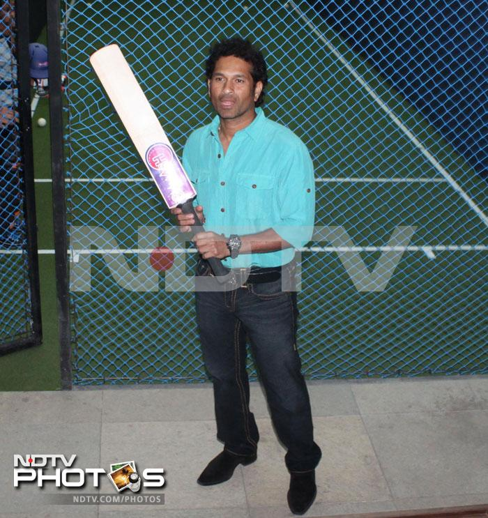 Tendulkar said that budding cricketers would enjoy the simulator as they get an opportunity to face world class bowlers, adding that a few inputs which were duly incorporated. (Photo Courtesy: Varinder Chawla)