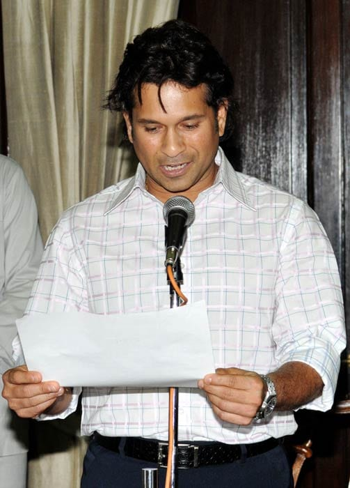 Sachin Tendulkar became the first sportsperson to become a nominated Rajya Sabha member on June 4, 2012. He took the oath at the chamber of Rajya Sabha Chairman Hamid Ansari. (AFP Photo)