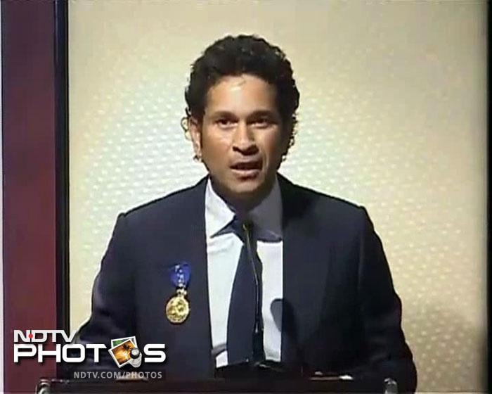 Sachin Tendulkar added another feather in his cap when he received the Order Of Australia. Australian Minister Simon Crean conferred the Order of Australia on Sachin Tendulkar at a ceremony in Mumbai.