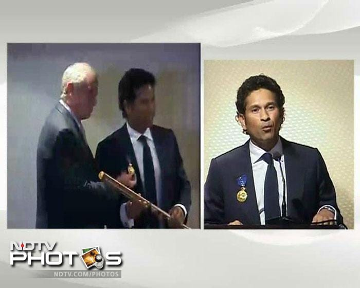 Sachin Tendulkar stated how honoured he was to to receive this award in recognition of his contribution to the game of cricket.