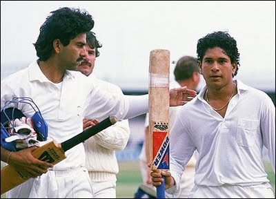 He scored his maiden Test century to become the second-youngest centurion in the Test history. His 119 not out against England at Old Trafford was a majestic rearguard action that enabled India to hang on for a draw. It still remains among his most valuable Test innings. <br><br>In 1992, at the age of 19, Tendulkar became the first overseas born player to represent Yorkshire county.