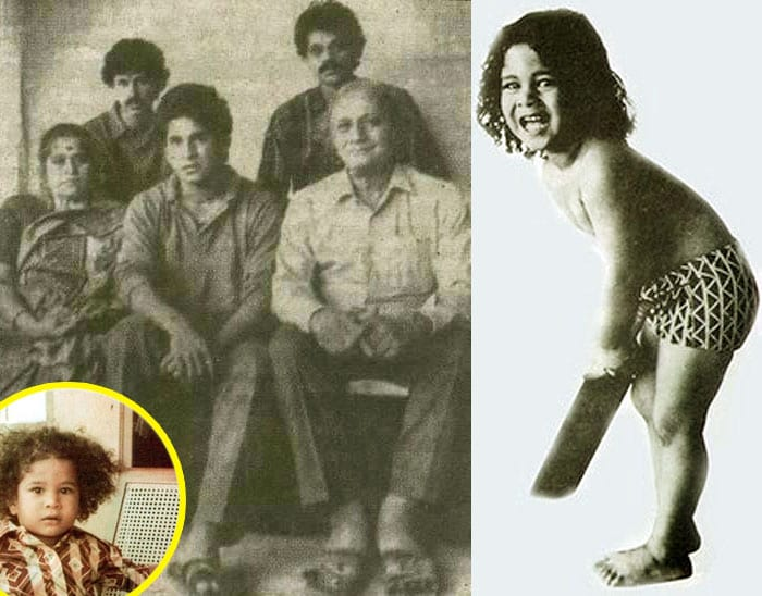 Name: Sachin Tendulkar<br><br>Age: Two and a half years<br><br>Bat used: Broomstick<br><br>Location: Sachin's Backyard<br><br>Bowler: Sachin's Nanny<br><br>Cricket,it seems, was pre-ordained for Sachin who was born and brought up in a traditional Saraswat Brahmin family in a middle class locality in Bandra, Mumbai. His father, Ramesh Tendulkar, was a Marathi novelist and his mother Rajni worked for the Life Insurance Corporation.<br><br>The cricketer whose name the entire nation cannot stop chanting was named after his father's favourite music director, Sachin Dev Burman.