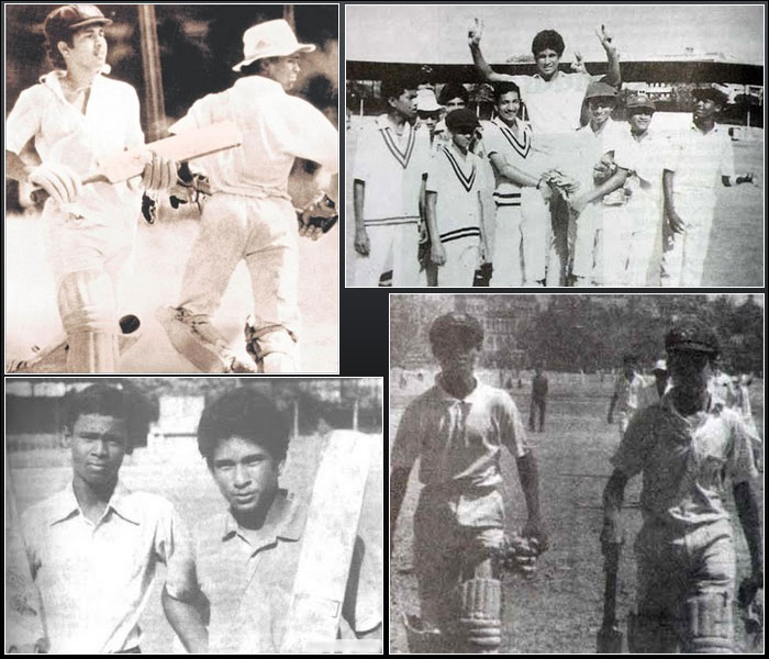 He started showing signs of what was to come in the years that followed.<br><br>Sachin Tendulkar, 14, compiled a 664-run unbroken partnership with his childhood friend Vinod Kambli for Shardashram Vidyamandir against St Xavier's at Azad Maidan. The two kept batting ignoring coach's signal. They later revealed that they got scolding of their lives after the game. Tendulkar scored an unbeaten 326 and it remained the highest partnership recorded in any form of cricket, until in November 2006 two schoolboys from Hyderabad overtook the record with an unbeaten 721-run partnership.