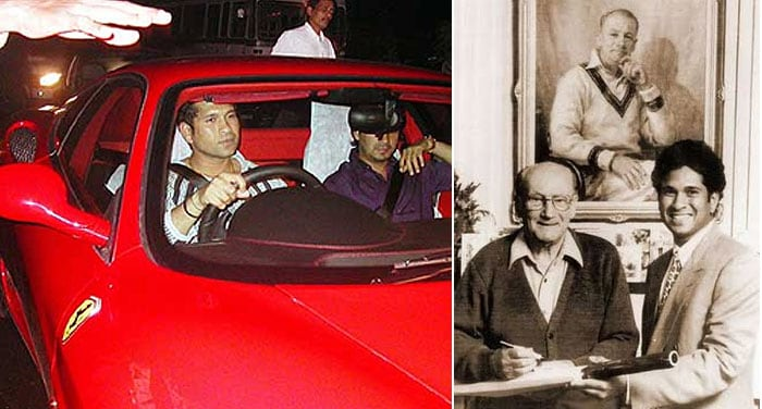 In 2002, while commemorating Sachin Tendulkar's feat of equalling Don Bradman's 29 centuries in Test Cricket, automotive giant Ferrari invited Sachin Tendulkar to its paddock in Silverstone on the eve of the British Grand Prix (23 July 2002) to receive a Ferrari 360 Modena from the legendary F1 racer Michael Schumacher. India's then finance minister Jaswant Singh said the customs duty imposed on the car as a measure to applaud his feat but political and social activists protested the waiver and filed PIL in the Delhi High Court. With the controversy snowballing, Sachin offered to pay the customs duty of Rs 1.13 Crores or 120% on the car value of Rs 75 Lakhs and the tab was finally picked up by Ferrari.