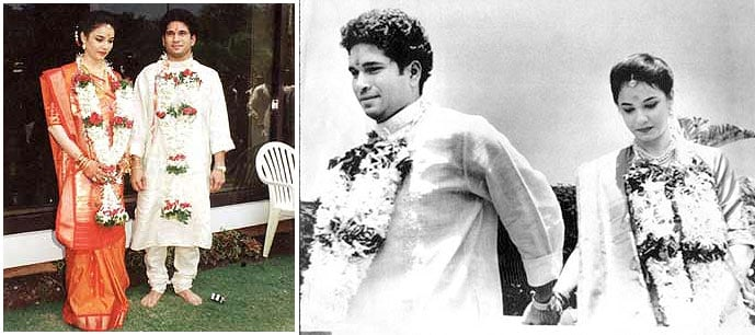 On 24 May 1995, Sachin married Anjali, a paediatrician and daughter of Gujarati industrialist Anand Mehta, elder to him by six years.<br><br> His friends say that Sachin and Anjali met through mutual friends and fell in love. The year of marriage served to be a lucky one for Tendulkar, in that very year, he signed a five-year contract worth Rs 31.5 crore with WorldTel, which made him the richest cricketer in the world.