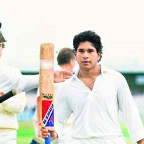 <b>114 vs England, Manchester (1990)</b><br><br> Most experts feel getting your first test century is the toughest.. and this 100 by a 17-year old Sachin in 1990 at Manchester signalled the arrival of the 'little master'.