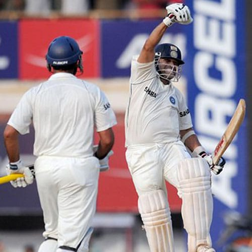 <b>103 vs England, Chennai (2008)</b><br><br> If 1999 made him cry, then this innings on the very same ground in 2008 brought a smile to his face. His 103 not out gave India an improbable win against England and set a record for the highest 4th Innings chase by India against any team and Sachin dedicated it to all those who were affected in the 26/11 Mumbai attacks.