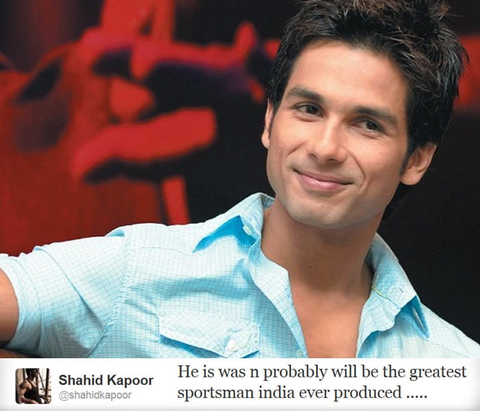 <b>Shahid Kapoor:</b> He is was n probably will be the greatest sportsman india ever produced .....