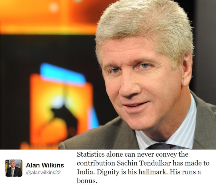 <b>Alan Wilkins:</b> Statistics alone can never convey the contribution Sachin Tendulkar has made to India. Dignity is his hallmark. His runs a bonus.