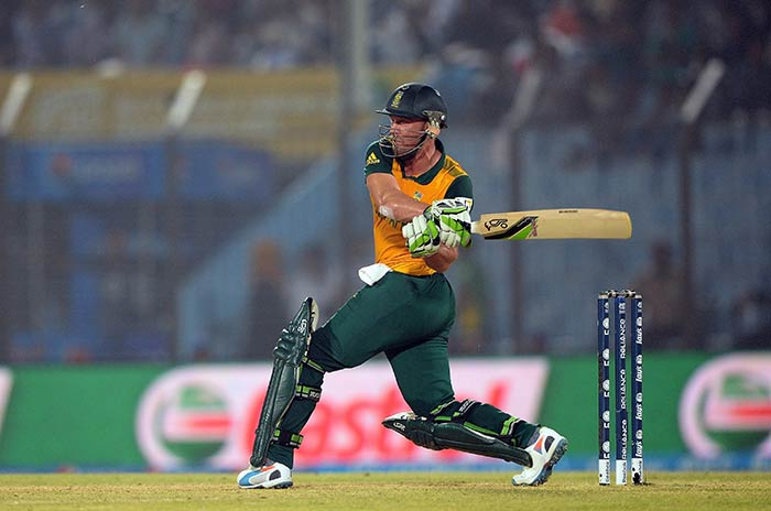 AB de Villiers was at his bludgeoning best, slamming nine fours and three sixes in his knock.