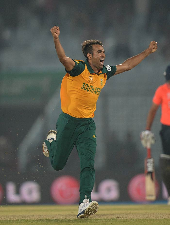 Imran Tahir (2/27) punctured England's middle-order with the scalps of Eoin Morgan and Jos Buttler.