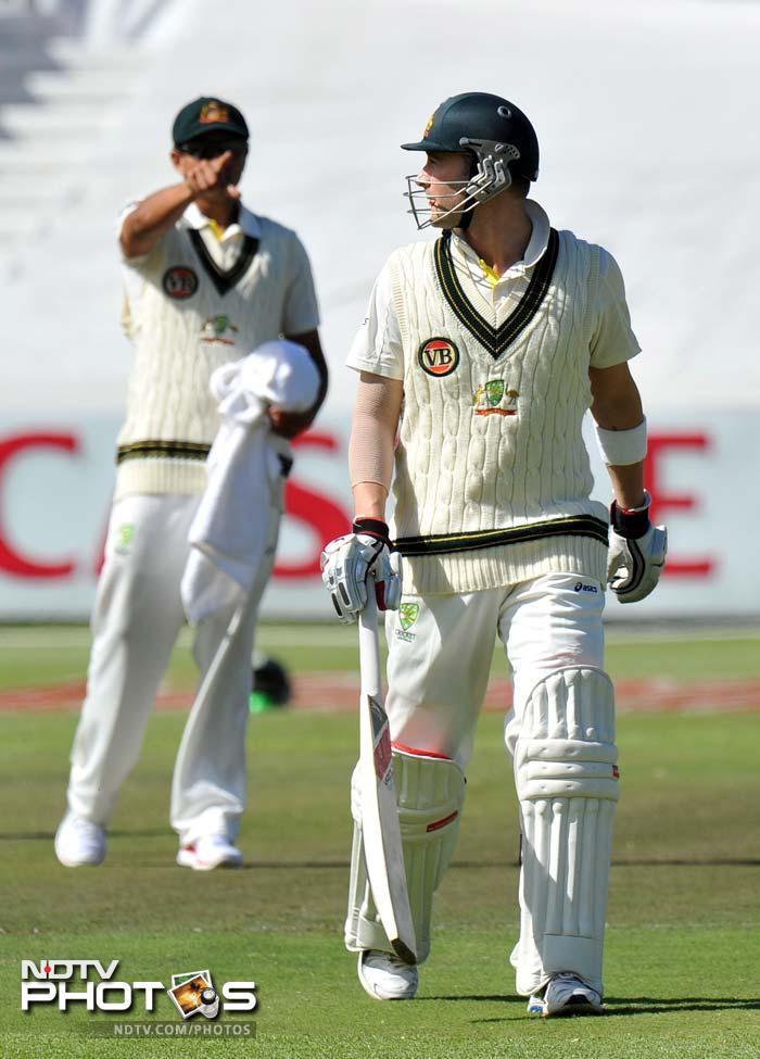 There were three partnerships of zero runs in the second innings for South Africa while Australia reciprocated with the same number of naught partnerships in the third innings of the match.