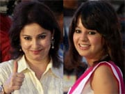 Photo : Anjali, Sakshi at the BCCI Awards