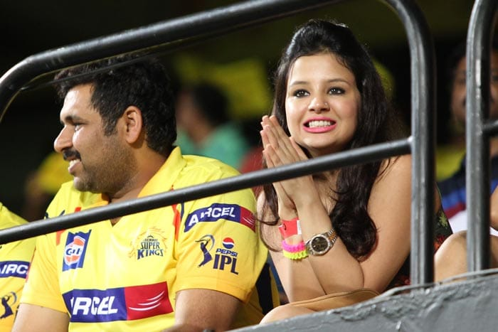 A win for Chennai Super Kings means the world for Sakshi Dhoni. Look at her wide smile after MS Dhoni's team went past Rajasthan Royals in the final over. (BCCI image)