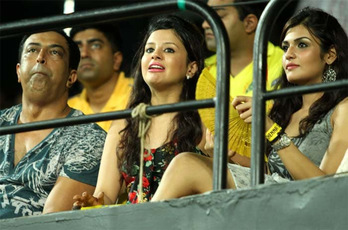 She was seen cheering every CSK player and although the team eventually lost, seemed to know that the tournament is far from over.