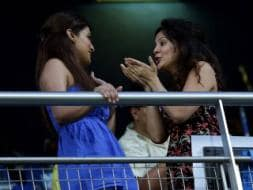 Photo : IPL BFFs? Sakshi Dhoni catches up with Geeta Basra