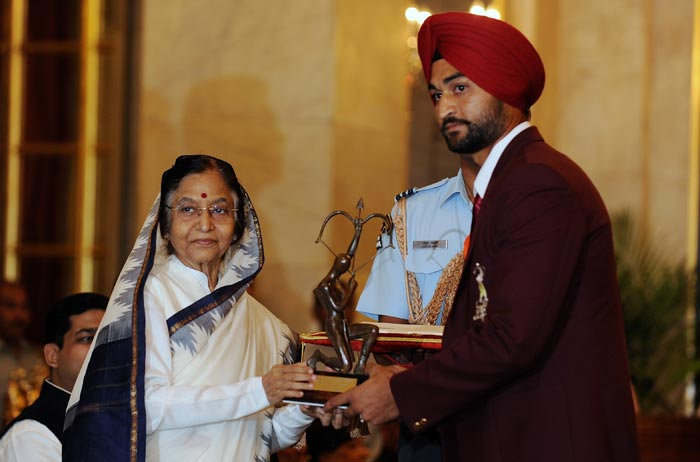 In 2010, he was awarded with the Arjuna Award. (AFP Photo)