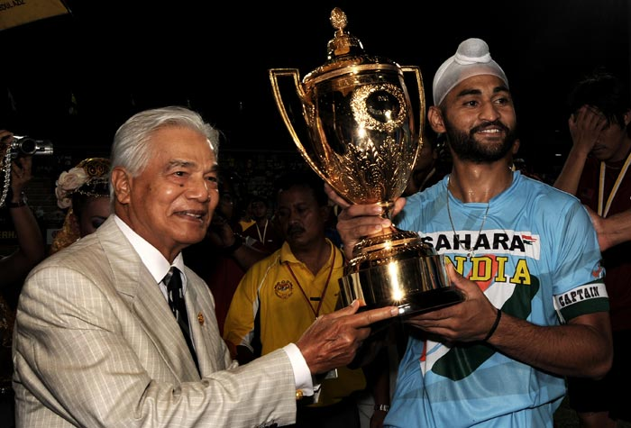 Sandeep became India's captain in 2009 and under his captaincy India won the Sultan Azlan Shah Cup after a gap of 13 years. He was the top scorer of that tournament. (AFP Photo)