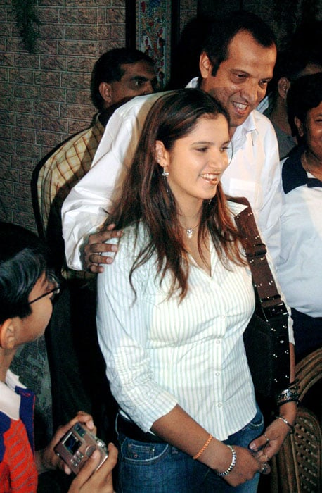 Sania picked up the tennis racquet at the age of six under the guidance of her father. She later went under professional coaching.