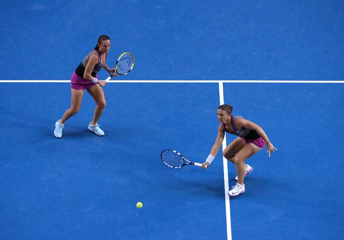In the Women's doubles final, Italian pair of Sara Errani and Roberta Vinci defended their Australian Open title.