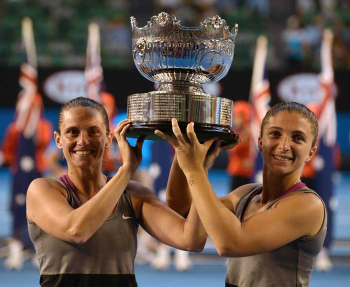 Errani and Vinci won 6-4, 3-6, 7-5 to clinch the trophy.