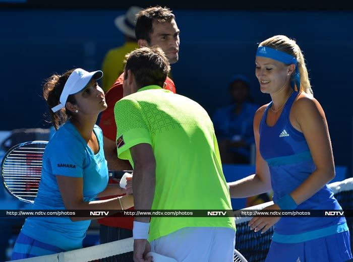 Nestor and Mladenovic defeated Sania-Horia 6-3, 6-2.