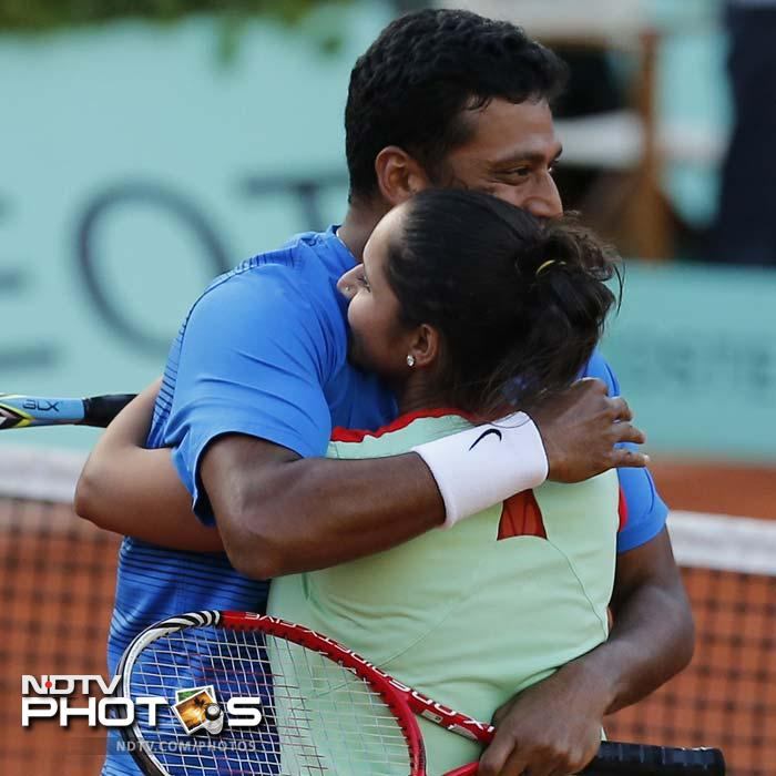 It is the second Grand Slam title for Sania while 12th Major trophy for Bhupathi, who now has won eight mixed doubles trophies.
