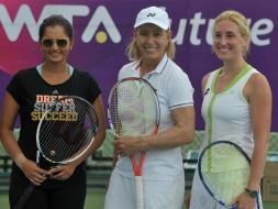 Photo : Superwoman Martina Navratilova Meets Indian Queen Sania Mirza