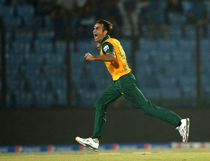Following Myburgh's departure, Imran Tahir (4/21) orchestrated South Africa's comeback.