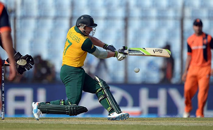 AB de Villiers attempted South Africa's revival but he too couldn't last too long.