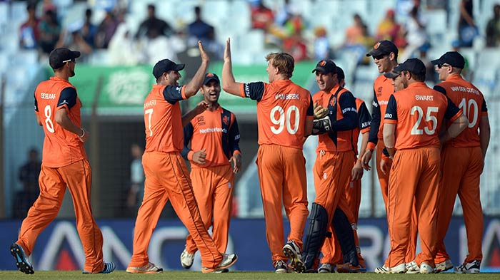Netherlands restricted South Africa to 145/9, giving themselves a chance of causing a massive upset.