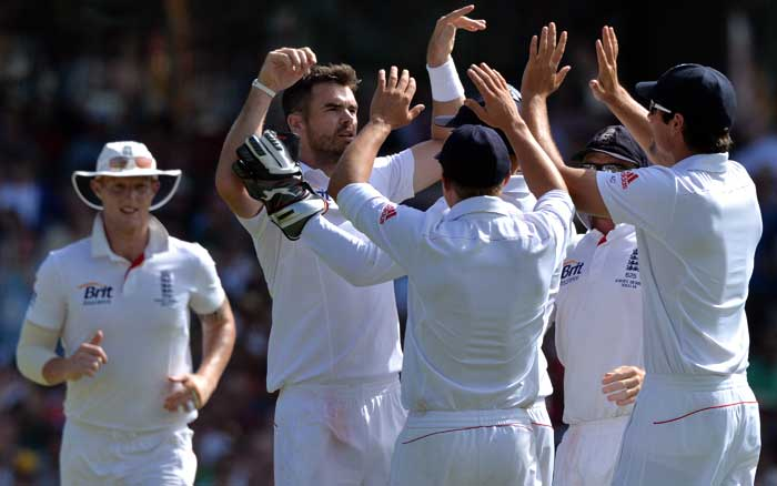 James Anderson took the wickets of David Warner (16) and Shane Watson (9) early as Australia stumbled early in their second innings.