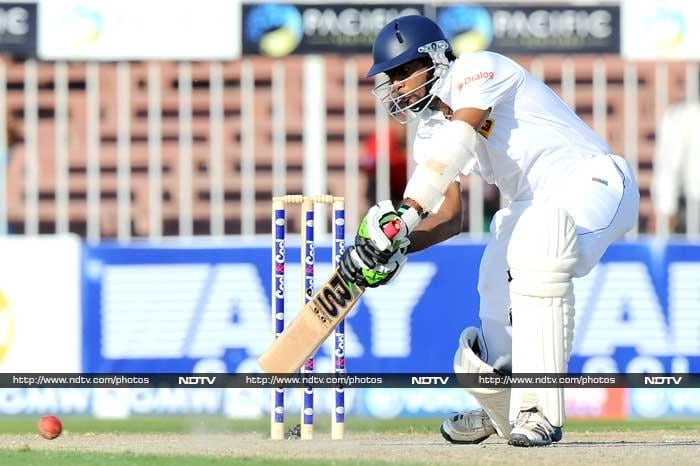 Perera (95) and Mathews made life difficult for Pakistan through their 112-run seventh wicket stand before Sri Lanka declared their first innings at 428-9, leaving Pakistan to score 19-0 in a tricky six overs before the close of the second day's play.