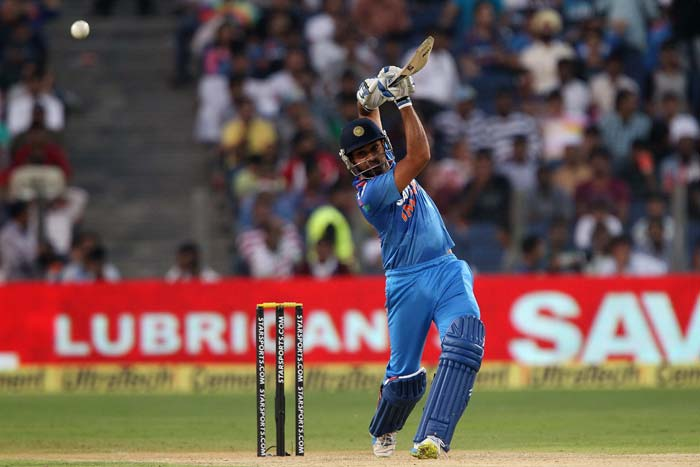 Rohit Sharma hit a quick 42 to give India hope.