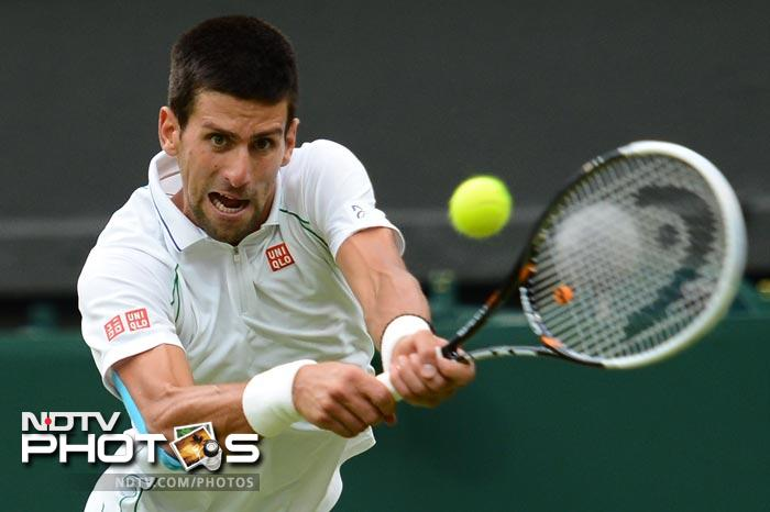 Novak Djokovic was tested early as he conceded the first set to Radek Stepanek but rallied back to win 4-6, 6-2, 6-2, 6-2.