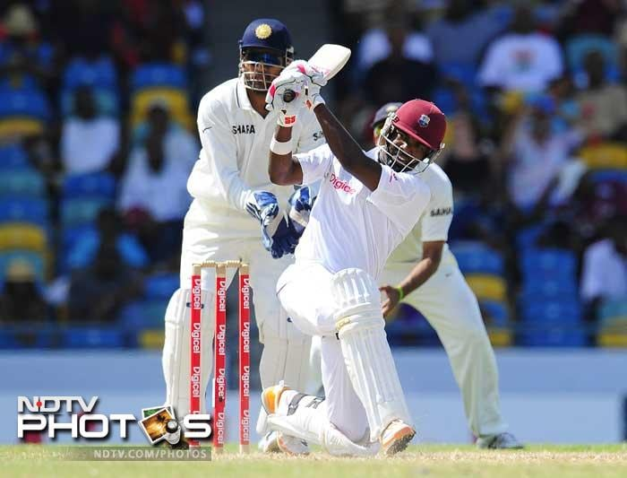 West Indies had Darren Bravo to thank for steering them to safety. He played the anchors role and scored a resilient half-century. (AFP Photo)