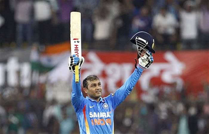 <b>Vijay Kawathe:</b> Well Well Well Well Congratulation Sehwag, We are proud to be Indian - 1. Sehwag 2. Sachin - Australia be aware - this is a trailer, <i>picture to abhi baki hai.</i>