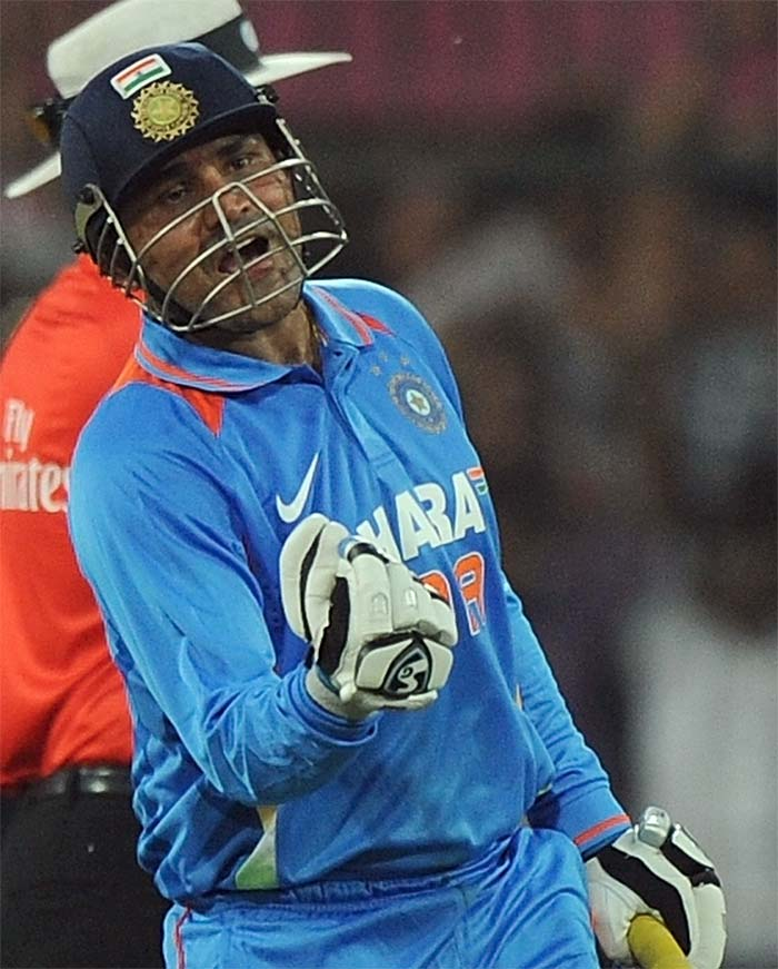 <b>Karthik Raja S:</b> Congratulations Sehwag, nice and excellent flick shots. 219 runs from 149 balls is sensational..!! Century from 4's itself, wooowww…..!