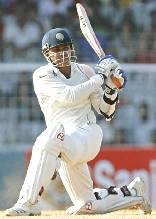 <b>109 vs Sri Lanka ar Galle</b><br><br> When no other Indian batsman could stand at the wicket, Sehwag delivered for the team with a whirlwind knock.<br><br> But as has been his bane, he departed soon after the century and the Indian batting crumbled.