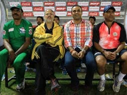 TUCC: Virender Sehwag watches the title clash