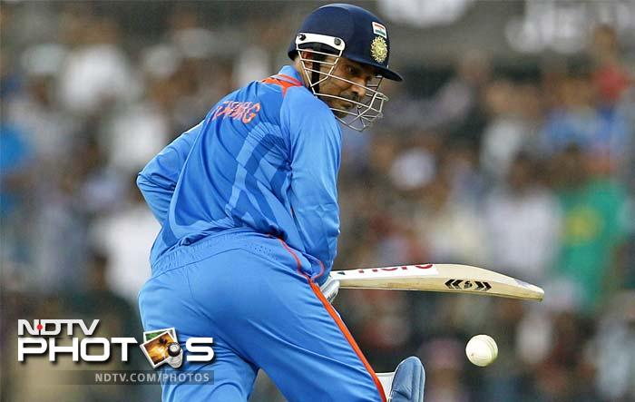 Sehwag recorded 142 runs through boundaries, the second highest in ODIs, next only to Shane Watson's 150 (15 fours and 15 sixes) during his innings of 185 not out off 96 balls for Australia against Bangladesh at Dhaka on April 11, 2011.