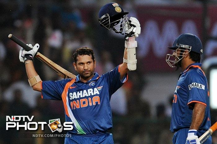 Powered by Sehwag's 219 India registered a 153-run win Over the West Indies. Co-incidentally India had defeated South Africa by the same margin when Sachin had smashed his double ton.