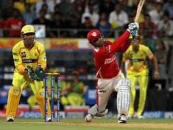 Photo : Virender Sehwag and the Kings XI Punjab Show