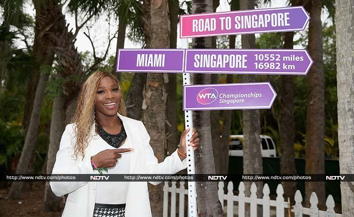 Serena Williams defeated Li Na in straight sets to lift the title in Key Biscayne.