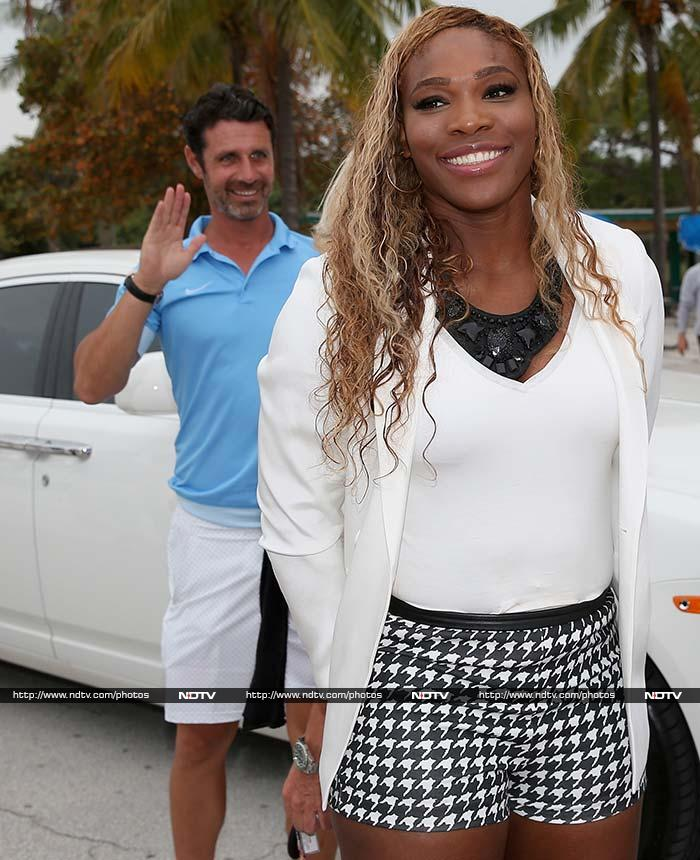 They do no make frequent public appearances. So when Serena Williams came out with boyfriend Patrick Mouratoglou for a photo-shoot after winning the Sony Open title in Miami, they both presented a picture-perfect pose. <br><br>All images courtesy AFP.
