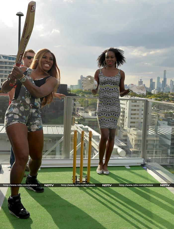 Serena - top-ranked in WTA listings - takes the aerial route!