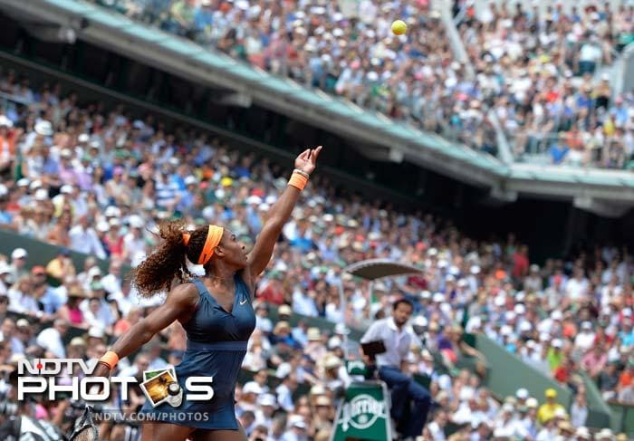 Throughout the match, Serena dominated Sharapova's serve with sequences of brutal service returns that had the Russian reeling for much of the game.