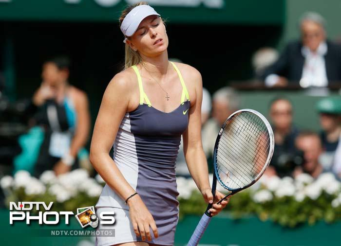 Sharapova managed to serve her way out of trouble on a few occasions but Serena managed to overpower her opponent on clay.