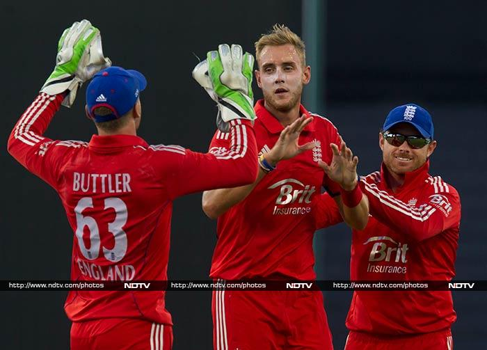 Stuart Broad was England's spearhead with three wickets for 31.