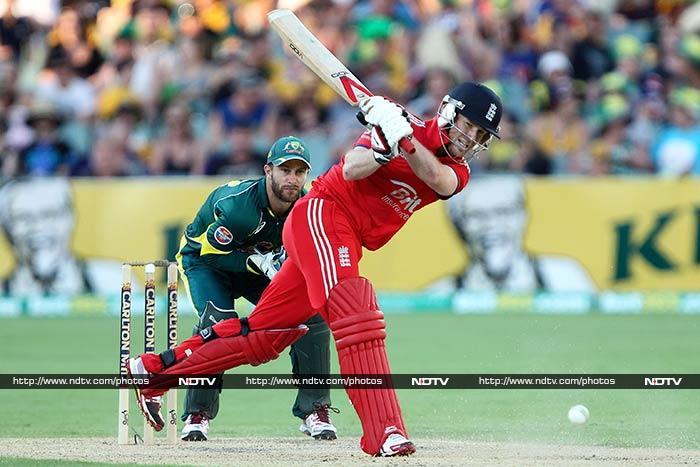 Eoin Morgan hit a valiant 39 as the match went down to the wire.
